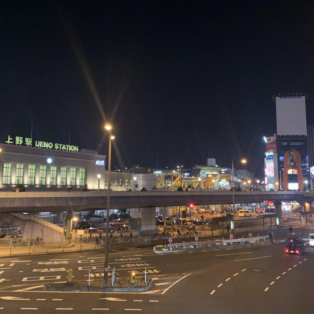 上野駅の夜景